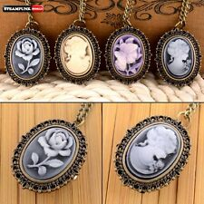 Antique Steampunk Style Pocket Watch Vintage Quartz Necklace Chain Women Pendant