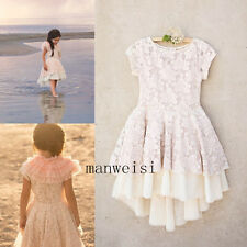Lace Flower Girl Princess Dress Kid Party Pageant Wedding Bridesmaid Dresses