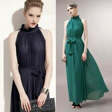 Stylish Summer Women's Boho Long Maxi Dress Evening Party Beach Chiffon Dresses
