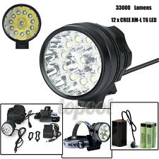 33000LM CREE T6 LED Bicycle Lamp Bike Light Headlight Waterproof 18650 Headlamp