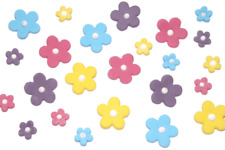 30pk Edible Sugar Blossom Flower Cupcake Decorations - 6 Colours & 2 Sizes