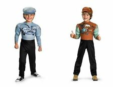 Disney Pixar CARS 2 Muscle Costume Tow Mater or Finn McMissile Little Boys 7-8