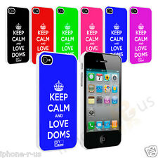 Keep Calm And Love Doms Hard Case Cover Snap On For Apple iPhone 4 4s