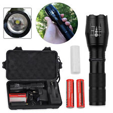 3000LM CREE T6 LED Zoomable Torch Flashlight Lamp+2 x 18650 Battery+Charger+Case