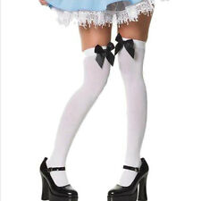 Hot Women Sexy Thigh High Stockings Bowknot Stockings For Women Lace Top