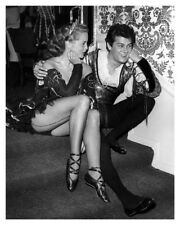 Hollywood Movie Actor Tony Curtis And Sexy Actress Janet Leigh Publicity Photo