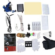 Complete Beginner Tattoo Kit Machine Guns Power Supply Needles Inks Grip IUS