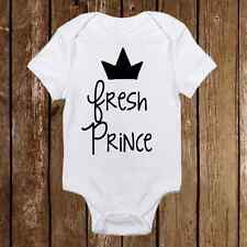 Fresh Prince with Crown Baby Boy Onesies - Unique Baby newborn Clothes - Infant