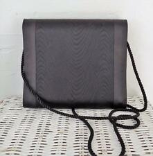 Vintage Whiting and Davis Black Satin Convertible Clutch  Evening Bag Elegant