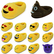 NEWHOT Emoji Expression Unisex Stuffed Slippers Winter Home Indoor Plush Shoes