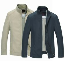 New Spring Mens Collar Jackets Slim-fitting Jacket Business Outwear Handsome