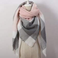 Super Soft Cashmere Women's Scarf Plaid Blanket Pashmina Shawl Warm Warp Scarf