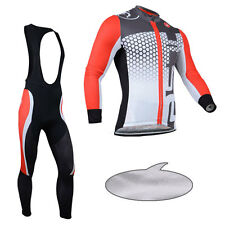 New Men Cycling Jersey Bib Tights Suit Wear Riding Outfits Winter Thermal Fleece