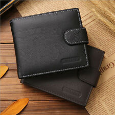 Men's Leather Credit ID Card Holder Wallet Bifold Cash Coin Purse US Warehouse