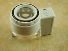 8 Power LED Lighted Magnifier w/Adjustable Focus & Measuring scale-Loupe