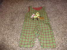 NWT NEW BOUTIQUE GLORIMONT REVERSIBLE 6M 6 MONTHS HOLIDAY FARM OUTFIT