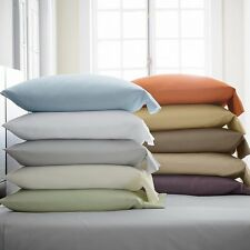 1000TC Egyptian Cotton Sateen 2 Pillowcases  Pic Color and Size