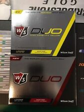 New 2016 Wilson Duo White Yellow Golf Balls 12 Pack Dozen
