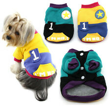 100% Cotton Winter Dog Coat Spell Color Sweater Style Sports Clothes Wonpet