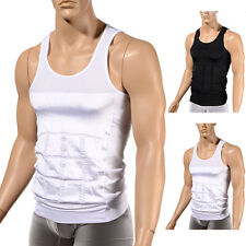 Mens Slimming Body Shaper Belly Boobs Chest Buster Underwear Vest Compression