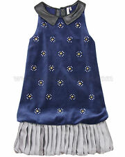 Deux par Deux Girls' Navy Velour Dress Make a Wish, Sizes 4-12