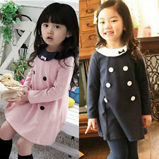 2-7 Y Baby Girls Kids Long Sleeve One-Piece Princess Dress Skirt Party Dresses
