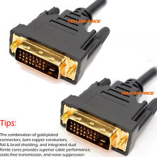 Gold Plated DVI-D Dual Link Cable DVI to DVI DFP LCD PC Monitor Video Cable Cord