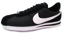 Nike CORTEZ BASIC NYLON 819720-011 'BLACK /WHITE-METALLIC SILVER' size 10/14