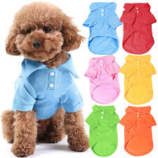 Summer Pet Dog Polo Shirt Small Puppy Cat Pet Clothes Costume Apparel T-Shirt