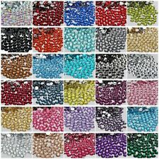 2000Pcs Crystal Flat Back Acrylic Rhinestones Loose Beads Gems 20 Colors 2mm DIY