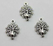 20/40/100 pcs ancient silver Retro style Beautiful peacock alloy charm pendant