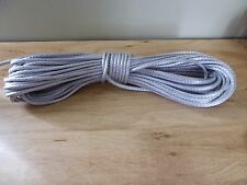 """3/16"""" x 92 ft. Pre-Cut Dyneema rope hank. Gray. Made in the USA."""