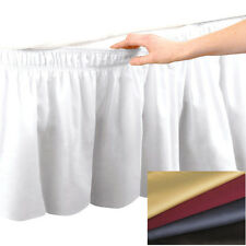 """Elastic Bed Skirt Dust Ruffle Easy Fit Egyptian Cotton 14""""Drop Choose Size Color"""