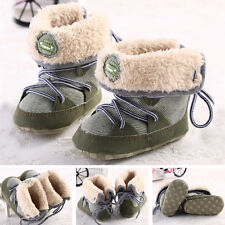 Infant Toddler Kid Winter Warm Baby Boys/Girls Snow Boots Lace Up Sole Shoes