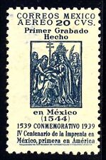 Mexico Sc. C97a, 1939 20c First Printing issue, Unwatermarked, OG, Mint, VF.