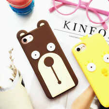 Fashion Cool 3D Cartoon Bear chick Silicone soft Case Cover for iPhone 7 6S Plus