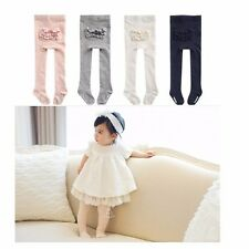 baby infant girls cotton soft princess lace spring fall pantyhose tights folds