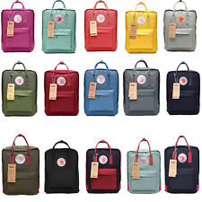 Classic School Backpack Canvas Tote Daypack Waterproof Outdoor Travel Medium Bag