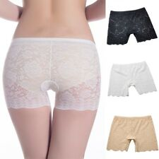 Women Lace Floral Seamless Safety Panties Stretchy Shorts Knickers Pants Hot