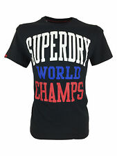 Mens Superdry World Champs Eclipse Navy Tee T-Shirt in Size Large