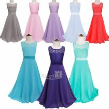 Flower Girls Birthday Pageant Wedding Party Formal Princess Kids Ball Gown Dress