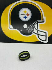 SAR - SAFE ACTIVE RINGS 8mm Black & Yellow STEELERS Silicon Wedding Band Ring