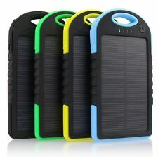 Waterproof 5000mah Battery Bank Charger Solar Portable Dual-USB For Cell Phone