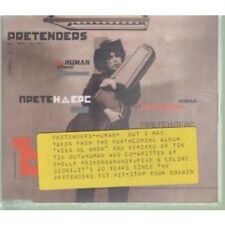 PRETENDERS Human CD 2 Track Tin Tin Out Mix Promo With Info Stickered Case B/w C