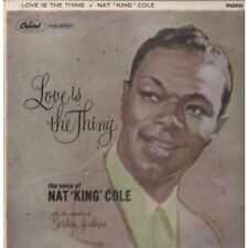 NAT KING COLE Love Is The Thing LP 12 Track Rainbow Rimmed Labels Mono In A Flip