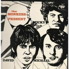 MONKEES Present Micky David Michael LP 12 Track But Has Sticker Marks On Back Of