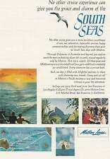 1964 Matson Lines: South Seas Print Ad (10969)