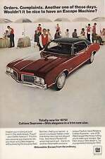 1970 Oldsmobile Cutlass Supreme: Escape Machine Print Ad (4408)