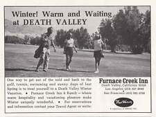1970 Furnace Creek Inn: Death Valley California Print Ad (15290)