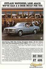1980 Oldsmobile Cutlass Brougham Sedan: Cutlass Watches Print Ad (5659)